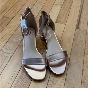 Yosi Samra rose gold sandals
